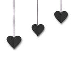 Background of hearts hanging on strings - Valentine s Day Royalty Free Stock Photography