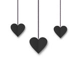 Background of hearts hanging on strings - Valentine s Day Stock Photos