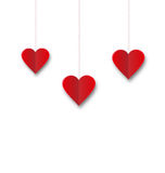 Background of hearts hanging on strings - Valentine s Day Stock Image