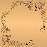 Background with hearts. Illustration golden background with hearts Stock Photography