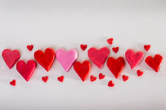 Background of hearts Stock Photos