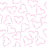 Background with hearts made of flowers Stock Images