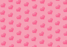 Background with hearts of pink color Royalty Free Stock Images
