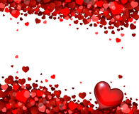 Background of hearts. Background of red little hearts Royalty Free Stock Image