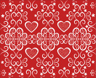 Background with hearts.Red and white Stock Images