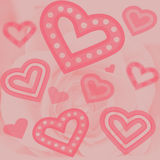 Background - Hearts And Rose Royalty Free Stock Photography