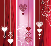 Background with hearts and roses. Royalty Free Stock Image