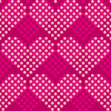 Background with hearts. Seamless damask of wallpaper background with hearts Royalty Free Stock Photo