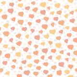 Background with hearts. Seamless pattern. Tender colored texture. Stock Image