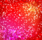 Background with hearts and sparkles Royalty Free Stock Photo