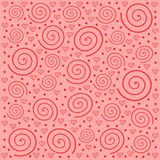 Background with hearts and spirals Royalty Free Stock Photo