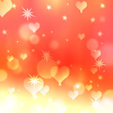 Background with hearts and stars Stock Photography