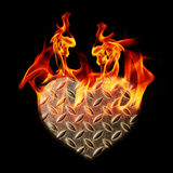 Background hearts of steel Royalty Free Stock Photography