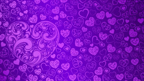 Background of hearts with swirls Stock Photos