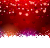 Background with hearts and text frame Stock Photography