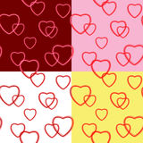 Background with hearts for valentine day - vector set Royalty Free Stock Photos