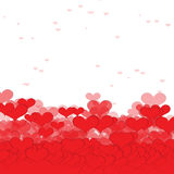 Background with hearts. valentine day Stock Images