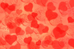 Background with hearts for Valentine's Day Stock Image