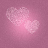 Background of hearts. On Valentine's Day stock illustration