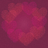 Background of hearts. On Valentine's Day vector illustration
