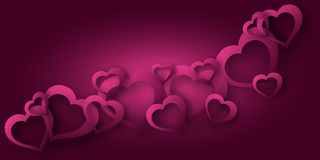 A background of hearts on Valentine's Day. Art Stock Image