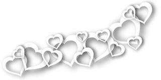 A background of hearts on Valentine's Day. Art Stock Photography