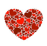 Background with hearts for Valentine`s Day Royalty Free Stock Photo