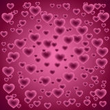 Background with hearts - Valentine's day,. Illustration Stock Photos
