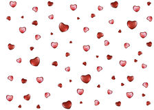 Background with hearts on Valentine's Day Stock Photography