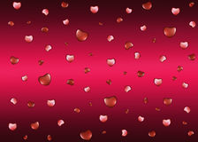 Background with hearts on Valentine's Day Stock Images