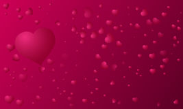 A background of hearts on Valentine's Day.Vector. Art Royalty Free Stock Photography