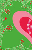Background with hearts for Valentine's greetings Stock Images