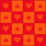 Background with hearts (Vector) Stock Image