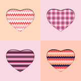 Background with hearts. Vector background with four decorated hearts Stock Image