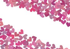 Background with hearts. Vector illustration Stock Image