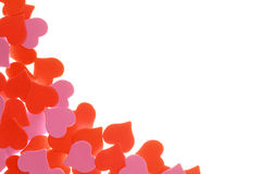 Background of hearts on white Stock Photos