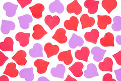 Background of hearts on white Royalty Free Stock Images