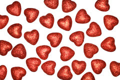 Background of hearts on white Royalty Free Stock Image