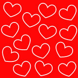 Background of hearts. Royalty Free Stock Photo