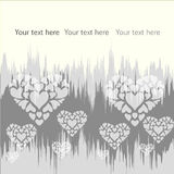 Background with hearts2 Royalty Free Stock Photography