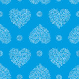 Background with Heartshape Floral Pattern Stock Photos