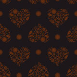 Background with Heartshape Floral Pattern Stock Images