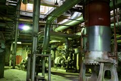 Background of heavy industry chemical plant Stock Photo