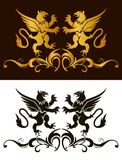 Background heraldry decoration. Vector Stock Image