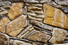 Background of hewn stone. Stacked in a wall Royalty Free Stock Image