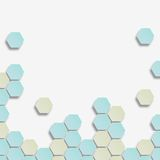 Background with hexagon. Royalty Free Stock Photos