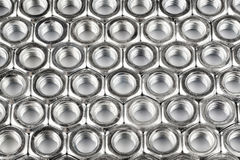 Background of hexagon nuts Royalty Free Stock Photo