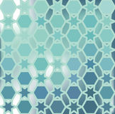 Background of  hexagon and star. Vector abstract background of the hexagon and the star  Pastel blue water color  Put the text on top  The effect of blurred Stock Photography