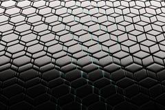 Background of hexagonal lattice structures, similar to honeycombs. Background - hexagonal lattice structure similar to a honeycomb. Black cell honeycomb. 3D