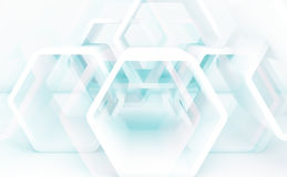 Background with hexagonal structures. 3d Royalty Free Stock Images